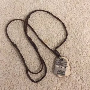 Other - Men's dog tag, ID necklace